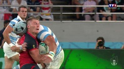 Angleterre - Argentine (5 - 3) : Carton rouge pour Lavanini après son plaquage haut sur Farrell