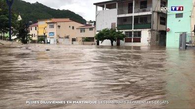Pluies diluviennes en Martinique : les habitants réparent les dégâts