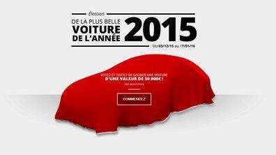 Plus Belle Voiture de l'Année 2015 : votez pour le 1er tour et gagnez une voiture !