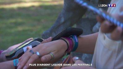 Plus d'argent liquide dans les festivals