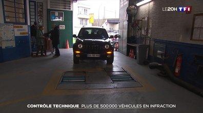Plus de 500 000 véhicules n'ont pas passé le contrôle technique