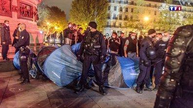 Polémique après les images de l'évacuation des migrants place de la République à Paris