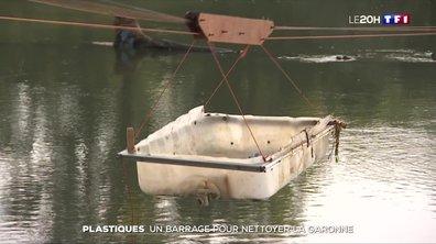 Pollution : un barrage pour récupérer les plastiques de la Garonne