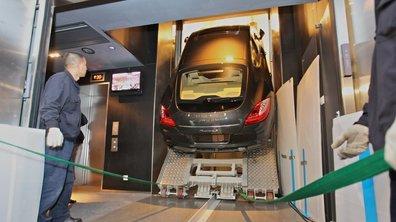 Insolite : Une Panamera dans l'ascenseur