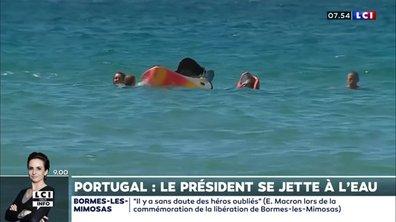 Portugal : le président se jette à l'eau