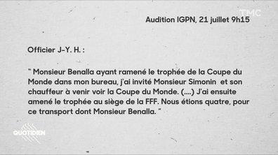 Pourquoi Alexandre Benalla avait-il la Coupe du monde trois jours après la victoire des Bleus ?
