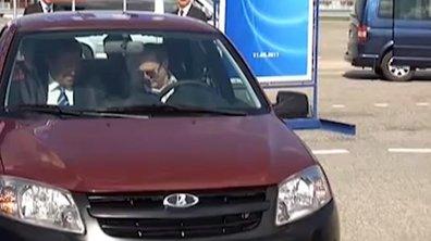 Vu sur le Web : Poutine en échec sur la nouvelle Lada Granta