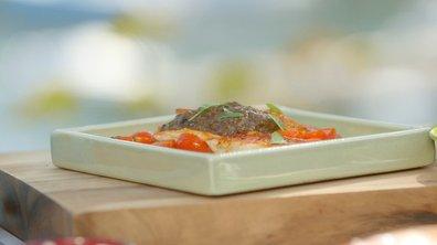 Filets de rougets barbets à la tapenade aux figues (à la plancha)