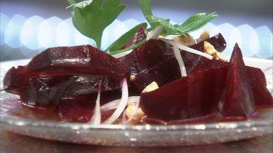 Salade de betteraves en vinaigrette de clémentine