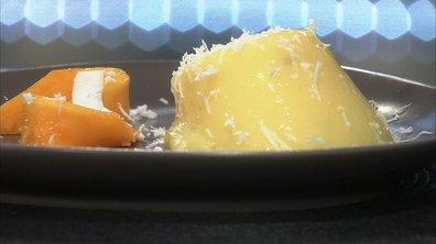 Blanc-manger à la mangue et à la cardamome