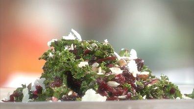 Salade tonique au chou kale