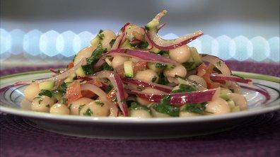 salade minestrone à l'huile de noisette