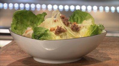 Salade de fenouil et coeur de laitue à l'anchoïade