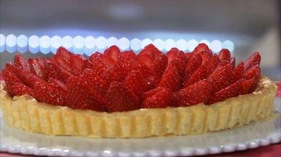 Tarte feuilletée aux fraises, crème vanille