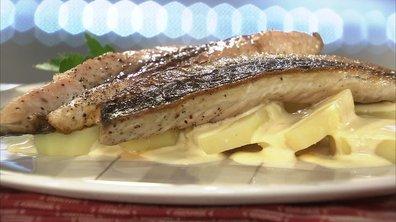 Filets de maquereaux à la moutarde, pommes vapeur
