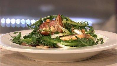 Salade de pissenlit aux rillons