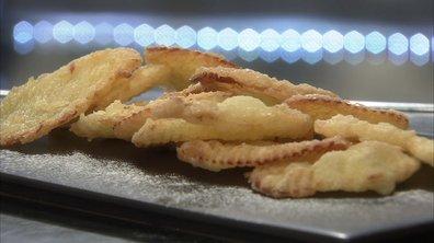Gaufrettes de Royal Gala en tempura sucrée