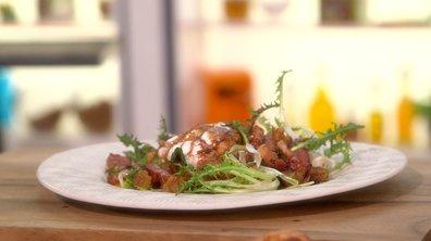 Salade de pissenlit à la chaude meurotte