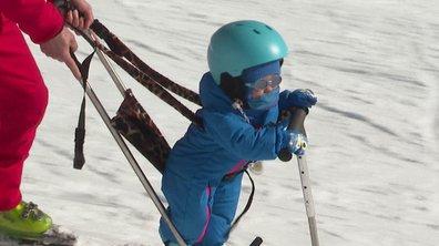 Première descente en ski pour Gianni