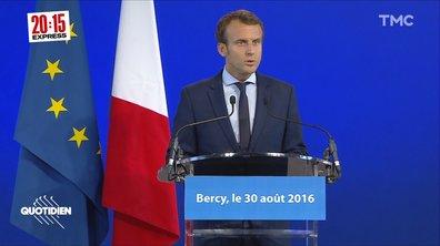 Présidentielle, 5 ans plus tôt : le 30 août 2016, Macron quitte le gouvernement