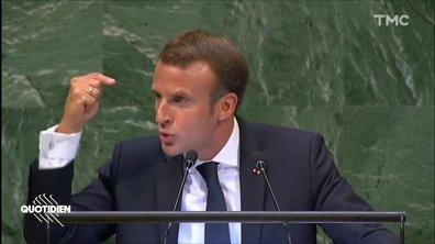 Profession Président : à l'ONU, Macron tire la sonnette d'alarme