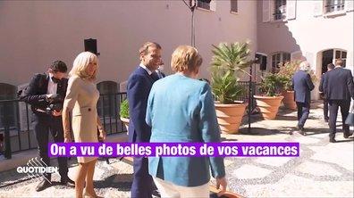 Profession président : Emmanuel Macron en jet ski ? Même Angela Merkel l'a vu (et ça l'a bien fait marrer)