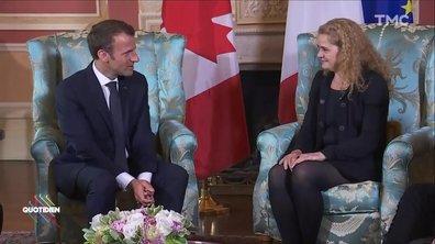 Profession président : Macron en voyage au Canada