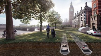 """Londres : La solution insolite """"Cartube"""" pour réduire les bouchons"""