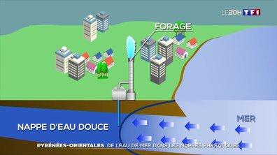 Pyrénées-Orientales : de l'eau de mer dans les nappes phréatiques