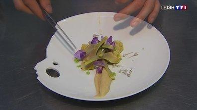 Quatre à table : un menu coloré et floral, de l'entrée au dessert