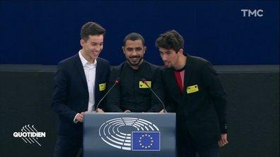 Qui d'autre que nous, Français, pouvait faire ça au parlement européen ?