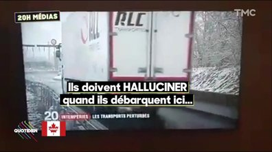 20h Médias : Il neige en France et ça fait mourir de rire la Russie, la Pologne et surtout le Québec