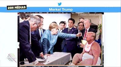 20h Médias : la photo Trump vs Merkel au G7 vue d'un autre angle
