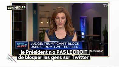 20h Médias : Trump est obligé par la loi d'accepter les critiques sur Twitter