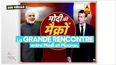20h Médias : la visite d'Emmanuel Macron vue par les médias indiens