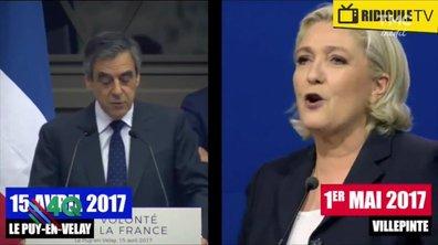 """Les 4 Q - Marine Le Pen fait un """"petit emprunt"""" au discours de Fillon"""
