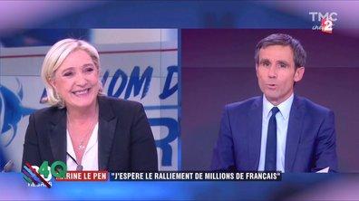 Les 4 Q - Marine Le Pen sourit à la vie