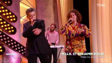 "Benjamin Biolay et MILK : ""Make my way to Paris"" en live pour Quotidien"