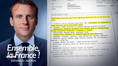 Le budget Photoshop d'Emmanuel Macron pour son affiche du second tour