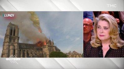 """Catherine Deneuve revient sur l'incendie de Notre-Dame : """"C'était terrifiant"""""""