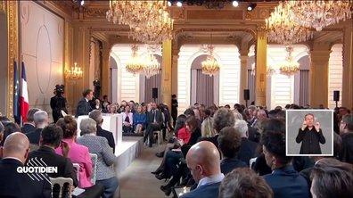 Dans les coulisses de la conférence de presse d'Emmanuel Macron