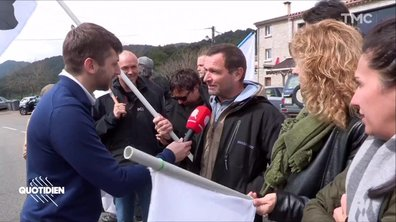 Dernier débat sous tension pour Emmanuel Macron en Corse