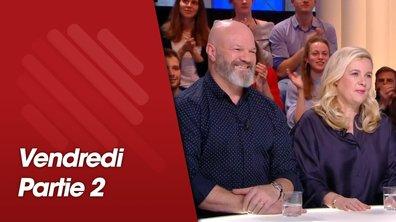 Quotidien, deuxième partie du 1 février 2019 avec Hélène Darroze, Michel Sarran, Philippe Etchebest et Tobias Forge