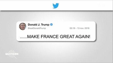 Trump sort de ses gonds et attaque Emmanuel Macron