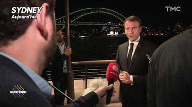 """Emmanuel Macron à Sydney : """"Il n'y a pas de jour férié quand on est président"""""""