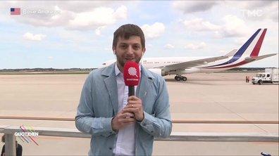 Emmanuel Macron est arrivé aux États-Unis