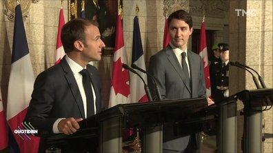 Emmanuel Macron et Justin Trudeau haussent le ton contre Trump