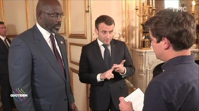 Emmanuel Macron et George Weah répondent à Martin Weill sur les enjeux d'avenir de l'Afrique