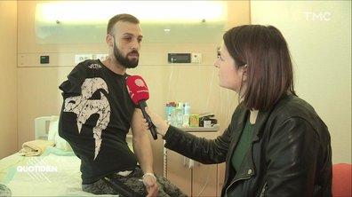 """EXCLU - """"Je ne savais pas que c'était une grenade"""", rencontre avec Sébastien Maillet, le manifestant à la main arrachée par une grenade"""