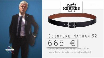 Fashion Hotline de Marc Beaugé : la très chère ceinture de Laurent Wauquiez